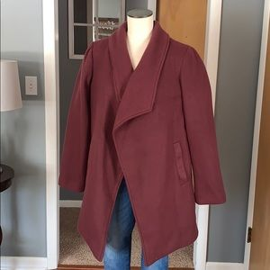 Purple oversized coat large